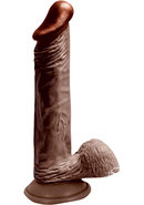Lifelikes Vibrating Black Knight Vibrator 8 Inch Brown