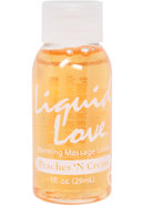 Liquid Love Warming Massage Lotion Peaches N Cream 1 Ounce
