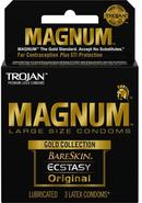Trojan Magnum Gold Collection Large Size Condom 3 Pack
