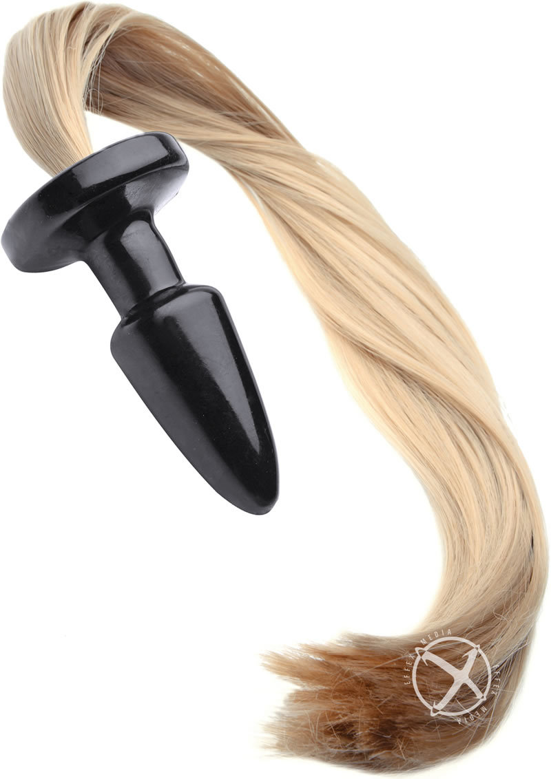 Tailz Blondie`s Pony Tail Butt Plug - Black